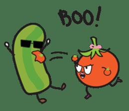 Mr Cucumber & Mrs Tomato sticker #11480647
