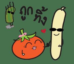 Mr Cucumber & Mrs Tomato sticker #11480648