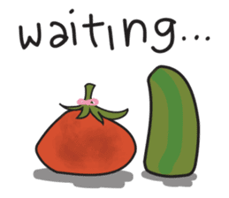 Mr Cucumber & Mrs Tomato sticker #11480651