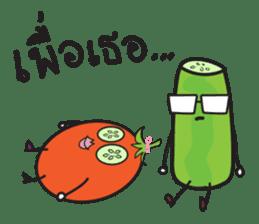 Mr Cucumber & Mrs Tomato sticker #11480652