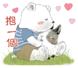 Cotton Ball and little rabbit2 sticker #11484680