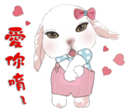 Cotton Ball and little rabbit2 sticker #11484685
