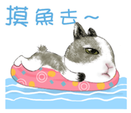 Cotton Ball and little rabbit2 sticker #11484691