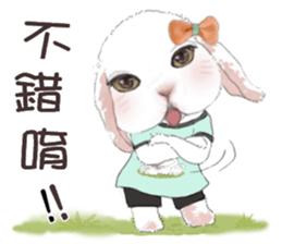 Cotton Ball and little rabbit2 sticker #11484693