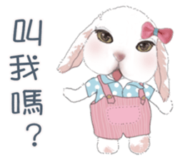 Cotton Ball and little rabbit2 sticker #11484705