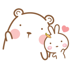 Bear and Rabbit 5 + sticker #11486392