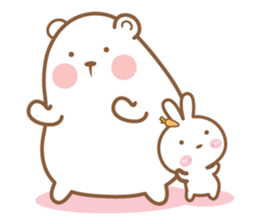 Bear and Rabbit 5 + sticker #11486398