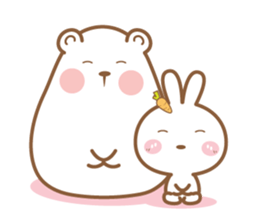 Bear and Rabbit 5 + sticker #11486412