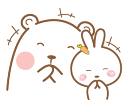 Bear and Rabbit 5 + sticker #11486417
