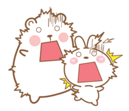 Bear and Rabbit 5 + sticker #11486424