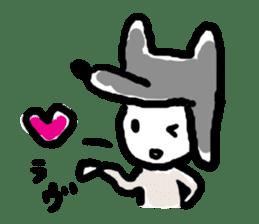 Wolf kun Sticker sticker #11487019