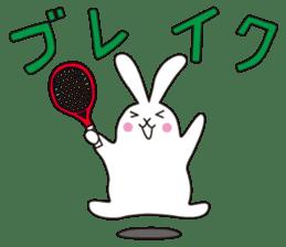 my pace tennis rabbit 2 sticker #11487353