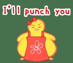 Annoying lazy chick sticker #11496968