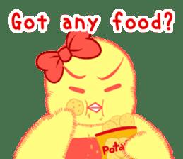 Annoying lazy chick sticker #11496987