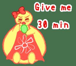 Annoying lazy chick sticker #11496991