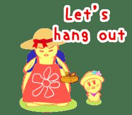 Annoying lazy chick sticker #11496993