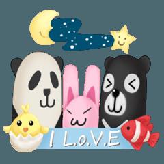 Lot of love and Panda Bear Nemo chick