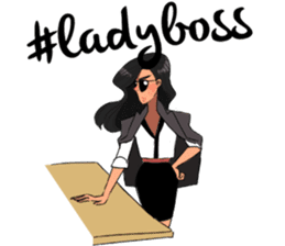 Lady Boss sticker #11506980