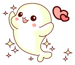 Fluffy seal! 4 sticker #11509568