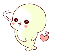 Fluffy seal! 4 sticker #11509596
