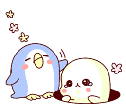 Fluffy seal! 4 sticker #11509604