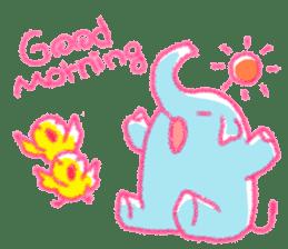 Crayon elephant sticker #11515929