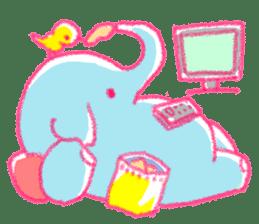 Crayon elephant sticker #11515932