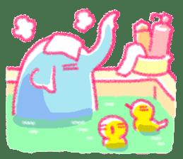 Crayon elephant sticker #11515933