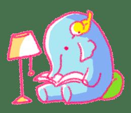 Crayon elephant sticker #11515934