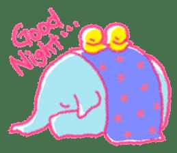 Crayon elephant sticker #11515935