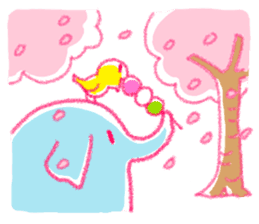 Crayon elephant sticker #11515936