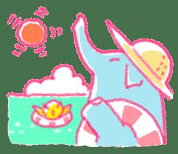Crayon elephant sticker #11515937