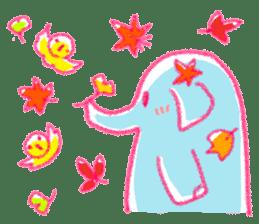 Crayon elephant sticker #11515938