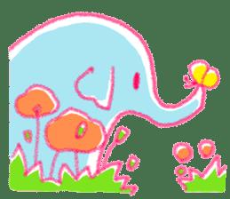 Crayon elephant sticker #11515941