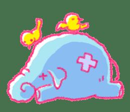 Crayon elephant sticker #11515956