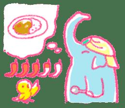 Crayon elephant sticker #11515961