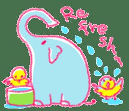 Crayon elephant sticker #11515963