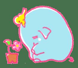 Crayon elephant sticker #11515966