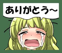 THANK YOU STICHER ! JAPANESE GIRL ! sticker #11518208