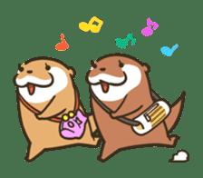 Kotsumetti of Small-clawed otter 06 sticker #11530044