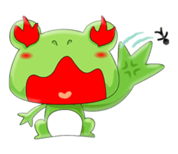 frog Croak sticker #11536946