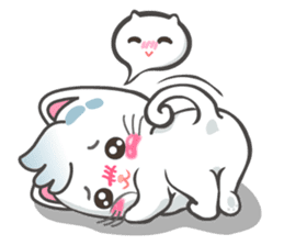 Snowy Cat (EN) sticker #11540921