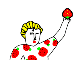 STRAWBERRY CLOTHES 5 sticker #11557901