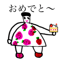 STRAWBERRY CLOTHES 5 sticker #11557927