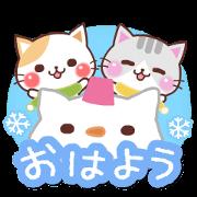 สติ๊กเกอร์ไลน์ Animated Cats 6 (Winter)