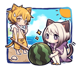 SUMMER KITTEN sticker #11608209