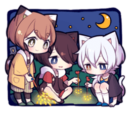 SUMMER KITTEN sticker #11608211
