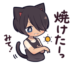 SUMMER KITTEN sticker #11608214