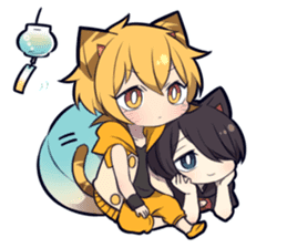 SUMMER KITTEN sticker #11608216