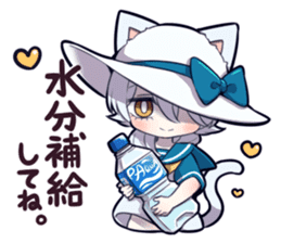 SUMMER KITTEN sticker #11608217